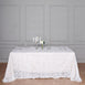 "90X132"" White Big Payette Sequin Rectangle Tablecloth"