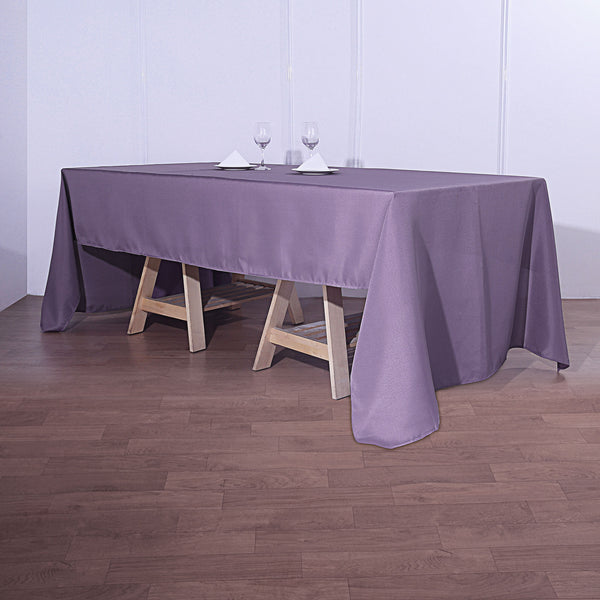 "72""x120"" Violet Amethyst Polyester Rectangular Tablecloth"