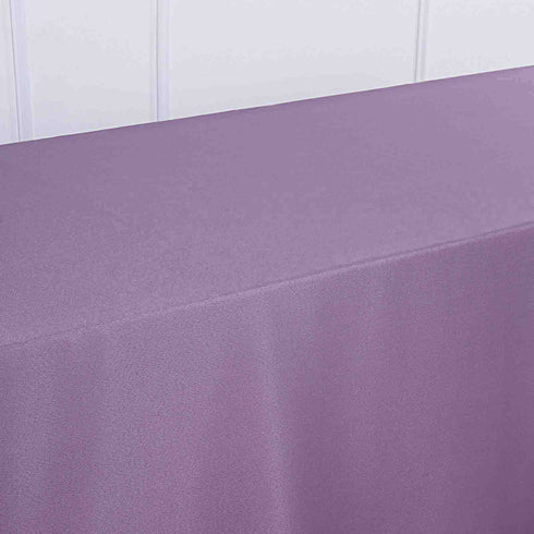 72x120 inch Violet Amethyst Polyester Rectangular Tablecloth