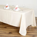 "72x120"" Beige Polyester Rectangular Tablecloth"