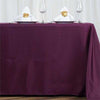 "72x120"" Eggplant Polyester Rectangular Tablecloth"