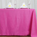 "72x120"" Fushia Polyester Rectangular Tablecloth"