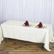 "72x120"" Ivory 220 GSM Seamless Premium Polyester Rectangular Tablecloth"