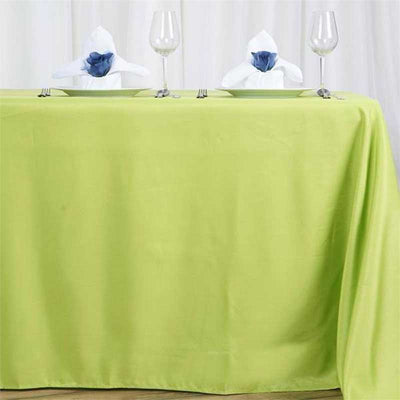 "72x120"" Sage Green Polyester Rectangular Tablecloth"