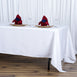 "72x120"" White Seamless Premium Polyester Rectangular Tablecloth"