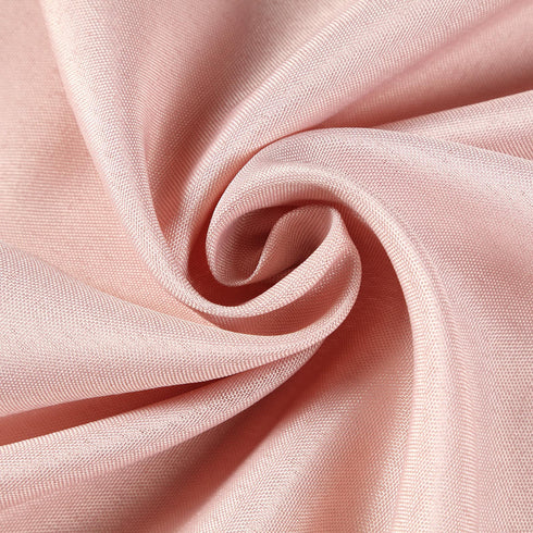 "90""x132"" Dusty Rose Polyester Rectangular Tablecloth"