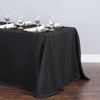 90x132 Black Seamless Premium Polyester Rectangular Tablecloth