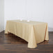 90x132 Champagne Polyester Rectangular Tablecloth