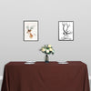 "90x132"" Chocolate Polyester Rectangular Tablecloth"