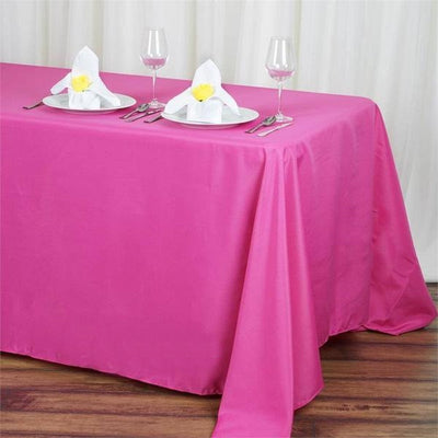 "90x132"" Polyester Tablecloth - Fuchsia"