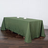 90 Inch x 132 Inch | Moss Green Polyester Rectangular Tablecloth | eFavorMart