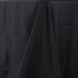 "90x156"" Seamless Premium Polyester Tablecloth - Black"