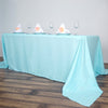 "90x156"" Polyester Tablecloth - Blue"