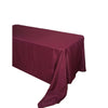 "90""x156"" Burgundy Polyester Rectangular Tablecloth"