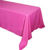 "90""x156"" Fushia Polyester Rectangular Tablecloth"