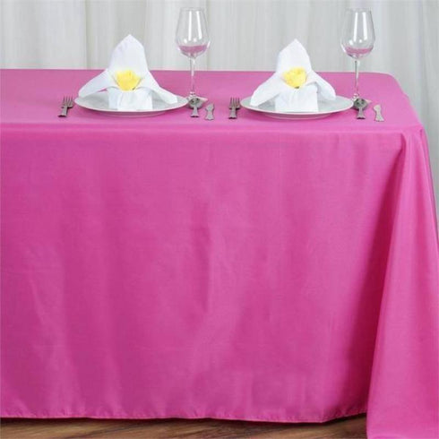 "90x156"" Polyester Tablecloth - Fuchsia"