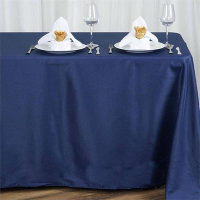 "90x156"" Polyester Tablecloth - Navy Blue"
