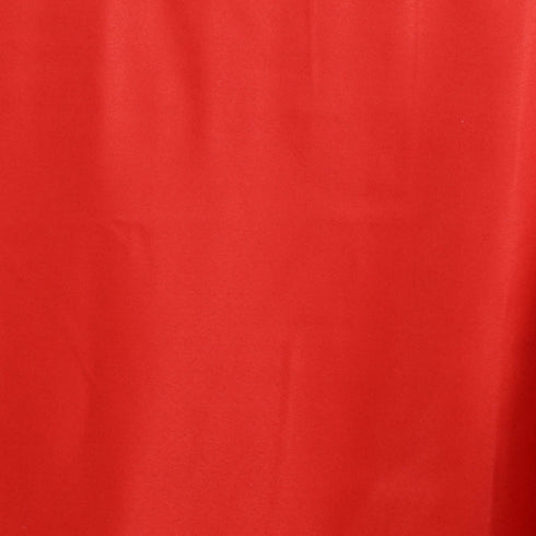 "90x156"" Red Polyester Rectangular Tablecloth"
