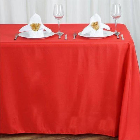 "90x156"" Polyester Tablecloth - Red"