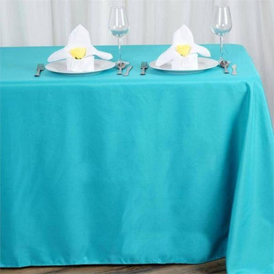 "90x156"" Polyester Tablecloth - Turquoise"