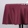 "90"" Polyester Round Tablecloth - Burgundy"