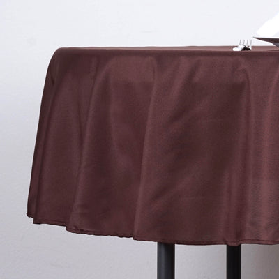 "90"" Polyester Round Tablecloth - Chocolate"