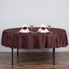 90 inches Polyester Round Tablecloth - Chocolate