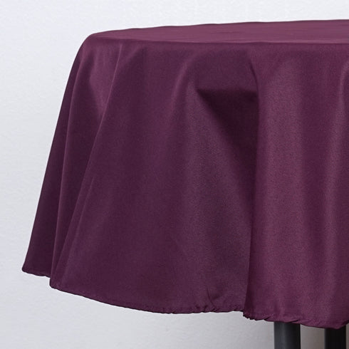 "90"" Polyester Round Tablecloth - Eggplant"