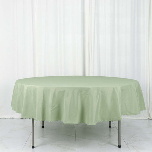 "90"" Polyester Round Tablecloth - Sage Green"