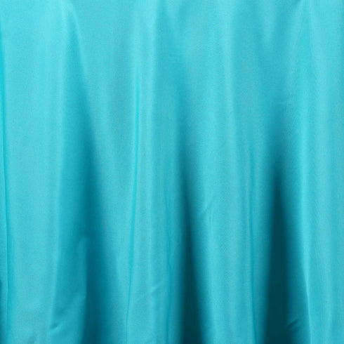 "90"" TURQUOISE Wholesale Polyester Round Tablecloth For Wedding Banquet Restaurant"