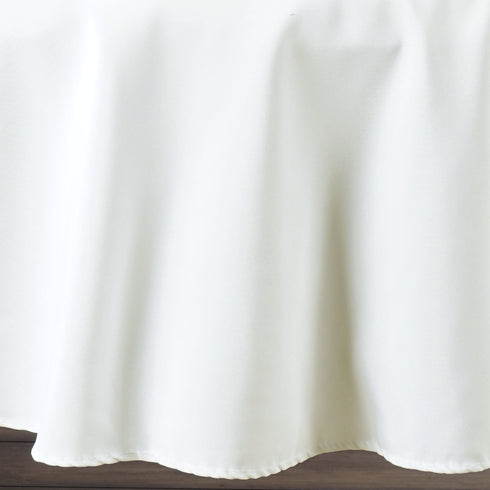 "90"" White 220 GSM Seamless Premium Polyester Round Tablecloth"