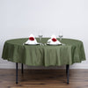 "90"" Polyester Round Tablecloth - Moss/Willow"