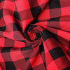 Buffalo Plaid Tablecloth | 108 Round | Black/Red | Checkered Gingham Polyester Tablecloth