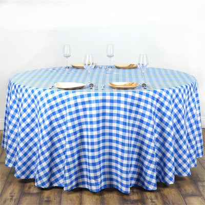 "Buffalo Plaid Tablecloths | 108"" Round 