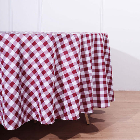 "Buffalo Plaid Tablecloth | 108"" Round 