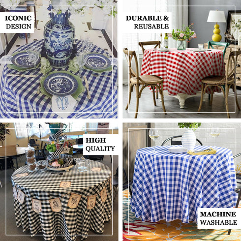"Buffalo Plaid Tablecloth | 120"" Round 