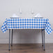 "54""x54"" Checkered Gingham Polyester Picnic Square Tablecloth - White/Blue"