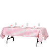 Buffalo Plaid Tablecloths | 60x102 Rectangular | White/Rose Quartz | Checkered Polyester Linen Tablecloth