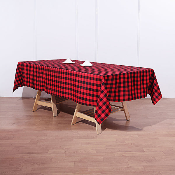 "Buffalo Plaid Tablecloth | 60""x102"" Rectangular 