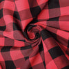 Buffalo Plaid Tablecloth | 60x102 Rectangular | Black/Red | Checkered Polyester Linen Tablecloth#whtbkgd