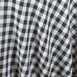 "Perfect Picnic Inspired Checkered 60x102"" Polyester Tablecloths White / Black"