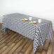 "Perfect Picnic Inspired Checkered 60x102"" Polyester Tablecloths White/Black"