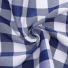Buffalo Plaid Tablecloth | 60x102 Rectangular | White/Navy Blue | Checkered Polyester Linen Tablecloth