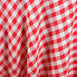 "Perfect Picnic Inspired Checkered 60x102"" Polyester Tablecloths White / Red"