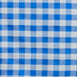 "Perfect Picnic Inspired Checkered 60x126"" Polyester Tablecloths White / Blue"
