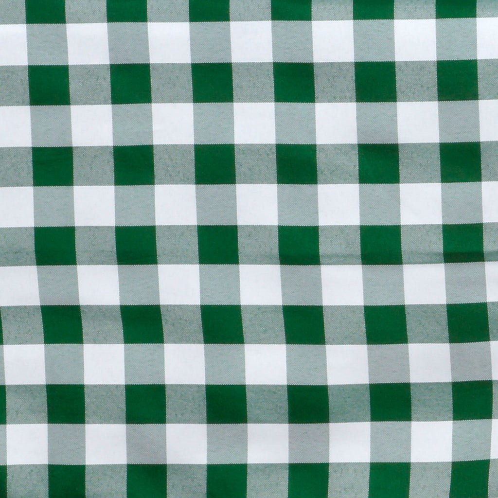 "Perfect Picnic Inspired Checkered 60x126"" Polyester Tablecloths White / Green"