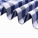 Buffalo Plaid Tablecloth | 60x126 Rectangular | White/Navy Blue | Checkered Polyester Tablecloth