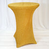 Gold Metallic Shiny Glittered Spandex Cocktail Table Cover