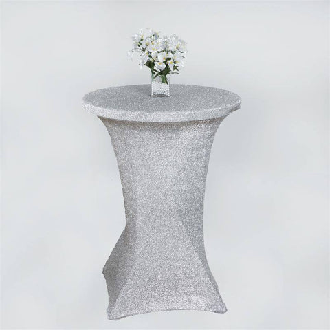 MY DREAMY Cocktail Spandex Table Cover - Silver