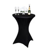 Cocktail Spandex Table Cover - Black